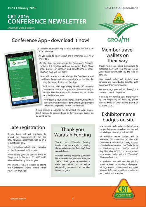 Conference Newsletter Jan 2016 All Delegates v2
