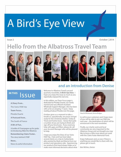 A Bird's Eye View - Albatross Travel Newsletter #2