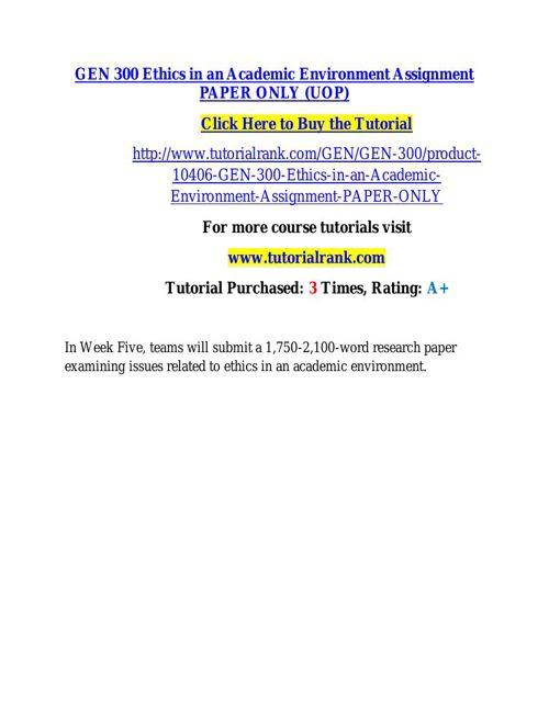 GEN 300 learning consultant / tutorialrank.com