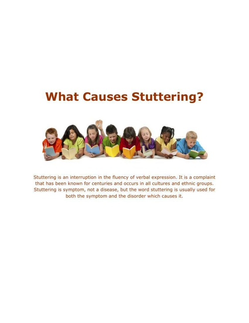 What Causes Stuttering?