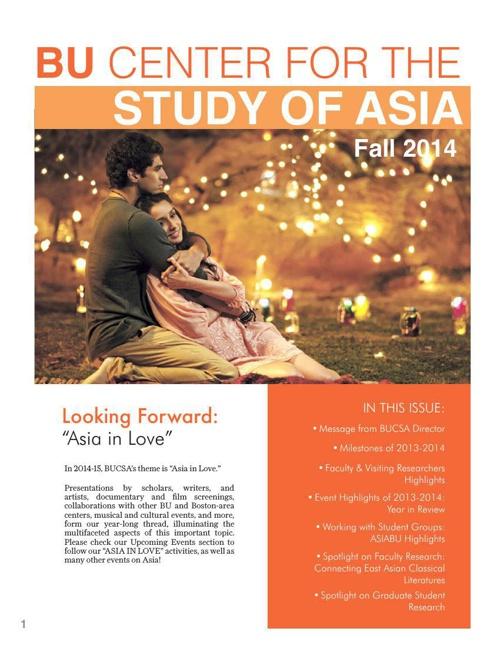 BUCSA Newsletter Fall 2014