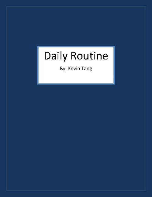Daliy routine