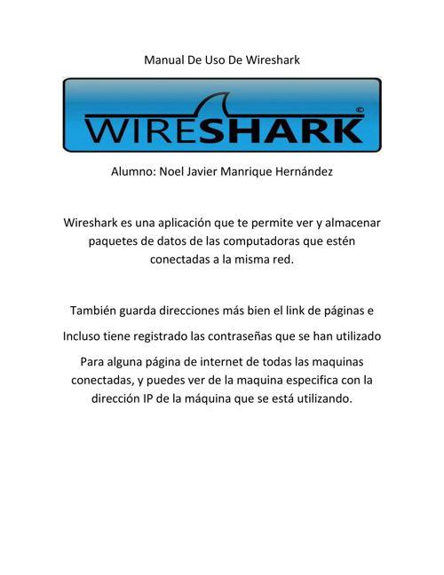Manual De Uso De Wireshark