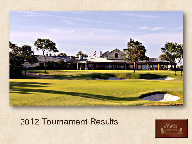 2012 Tournaments