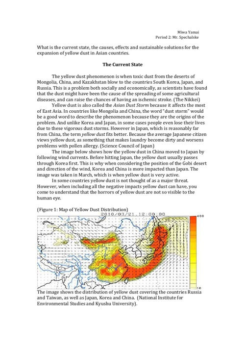 A Study on Yellow Dust in Japan, South Korea, and China