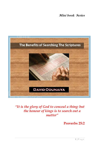 THE BENEFITS OF SEARCHING THE SCRIPTURES