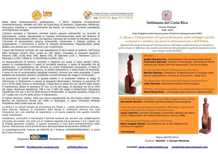 Venerdì 29 giugno 2012 / Viernes 29 junio 2012