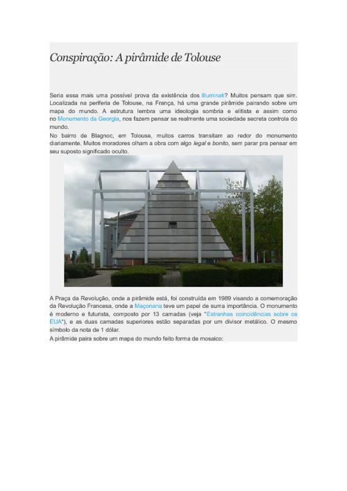 A pirâmide de Tolouse