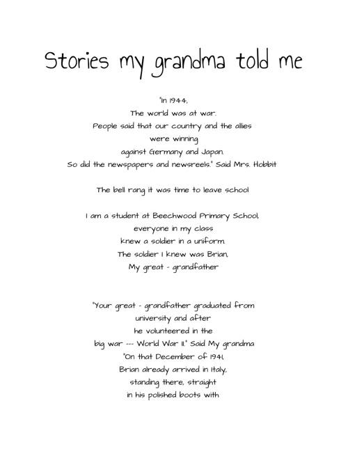 Stories my Grandma told Me