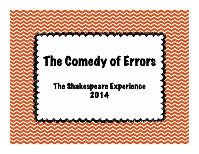 The Comedy of Errors 2014
