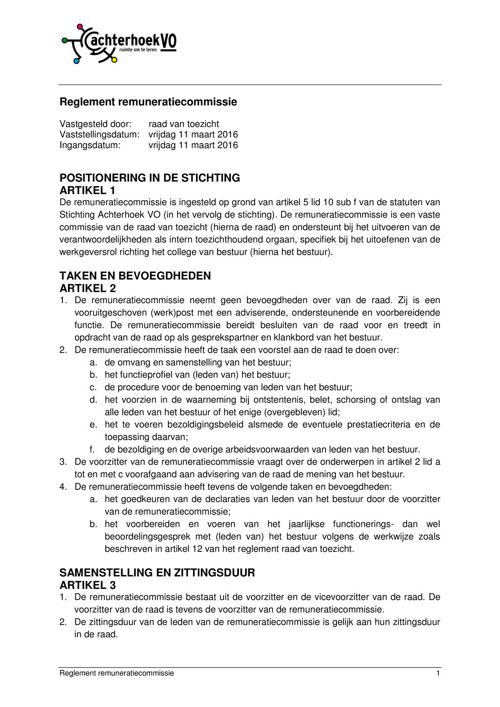 160311 Reglement remuneratiecommissie Achterhoek VO definitief