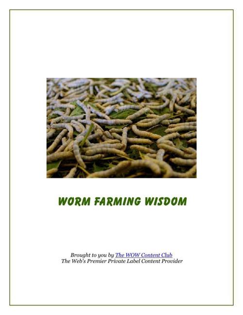 Worm Farming Wisdom