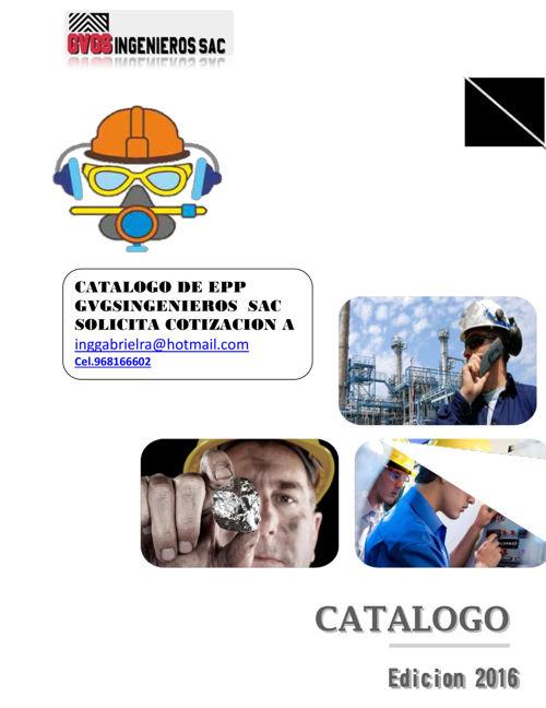 CATALOGO 2016 SEGURIDAD INDUSTRIAL