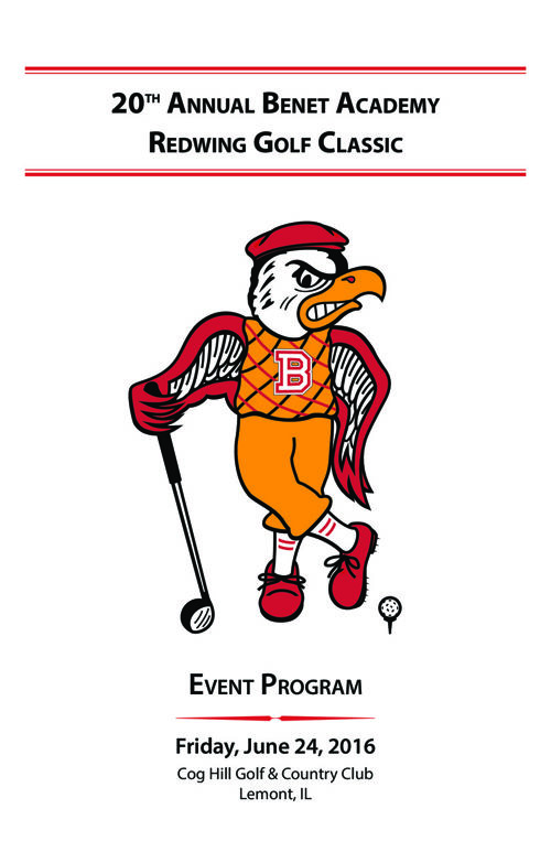 2016 Redwing Golf Classic Program