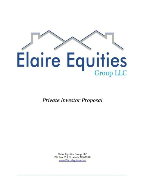 Private Investor Packet - FS
