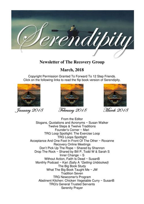 03 Serendipity ~ March 2018