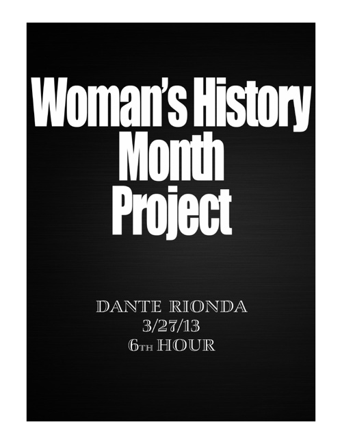 Womans Month History Project