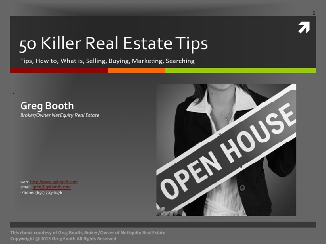 50 Killer Real Estate Tips