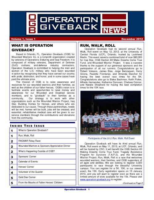 OGB News letter