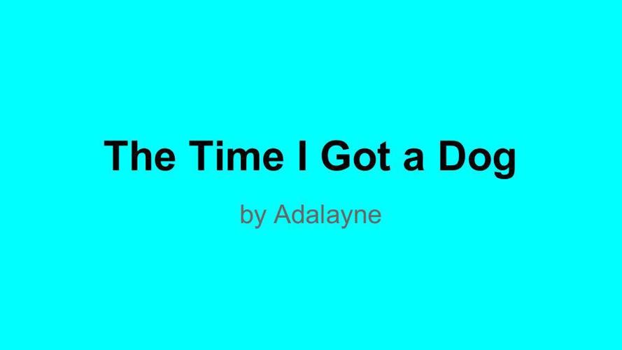 Personal Narrative - Publish It! - Adalayne Bondo