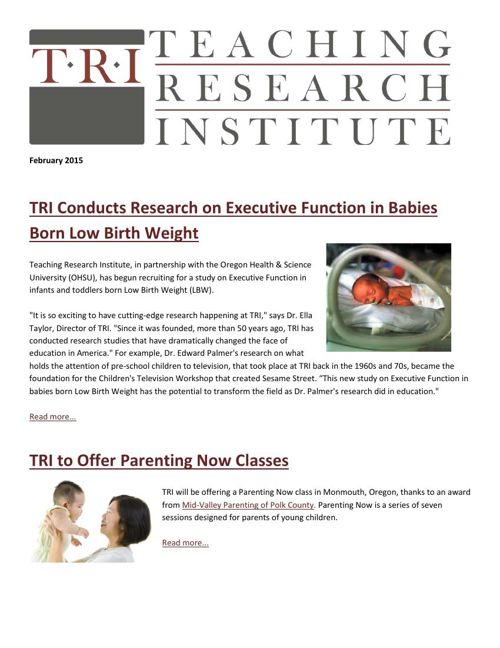 Teaching Research Institute: February 2015 Newsletter