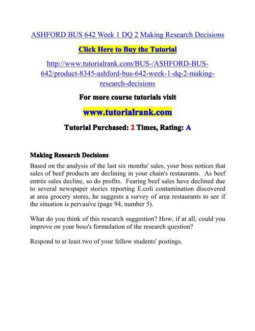 BUS 642 Potential Instructors / tutorialrank.com