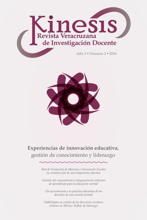 Kinesis Revista Veracruzana de Investigación Docente no. 1