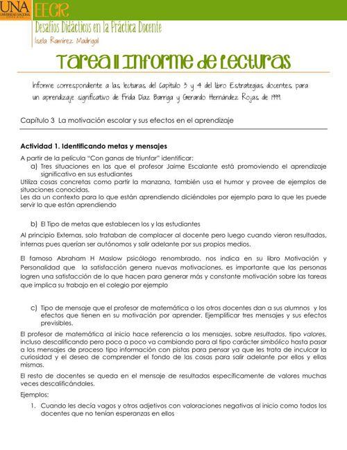 Tarea 11 Informe de Lecturas