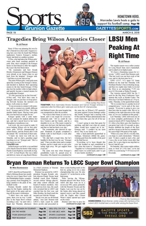 Gazette Sports 3-8-18