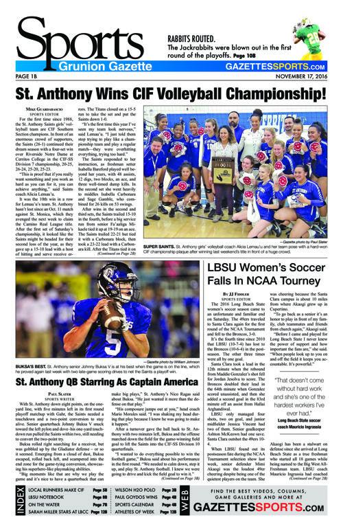Gazette Sports | November 17, 2016