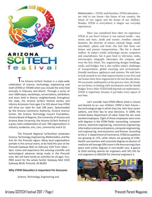 Arizona SCITECH Festival - Prescott Parent Magazine