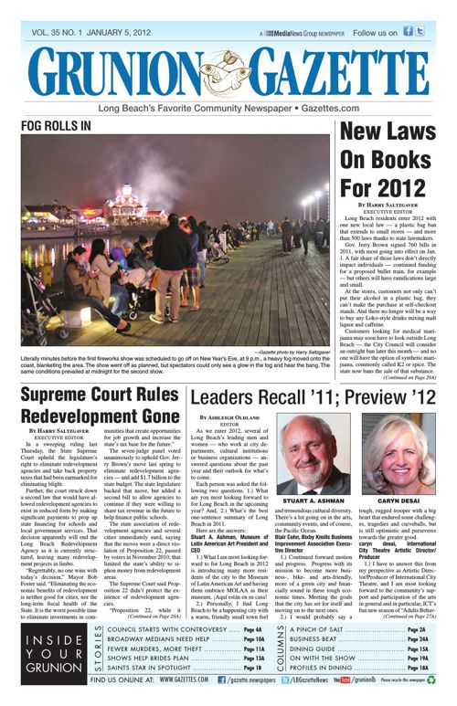 Grunion Gazette | January 5, 2012