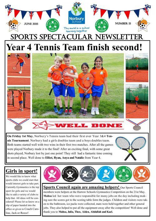 Sports Newsletter 15
