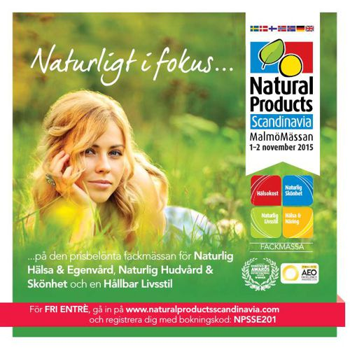 Natural Products Scandinavia 2015 Swedish