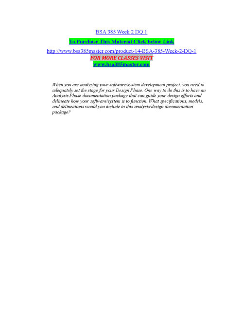 BSA 385 MASTER Peer Educator/ bsa385master.com