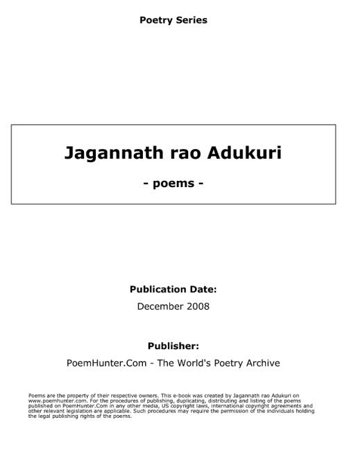 Poetry by Adukuri Jagannath Rao