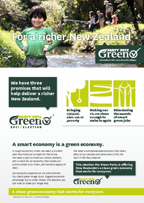 For a richer New Zealand - A smart economy is a green economy.