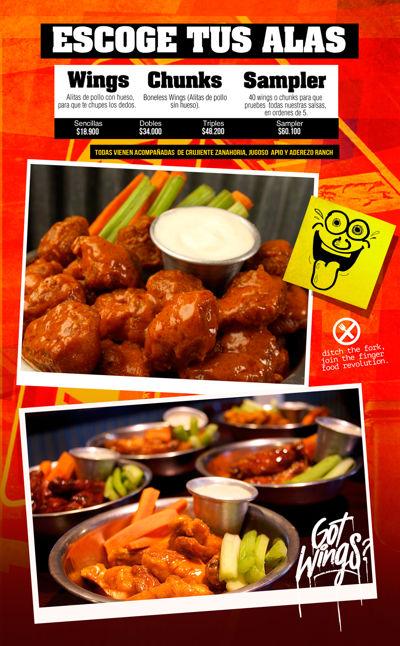 BW Buffalo Wings Menú Colombia