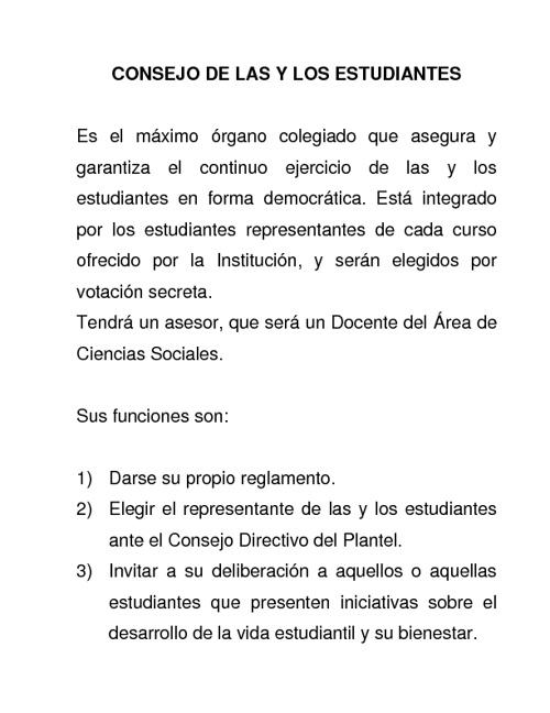 CONSEJO DE LOS ESTUDIANTES