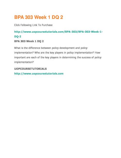 BPA 303 UOP Course Tutorials,BPA 303 Entire Course Materials,BPA