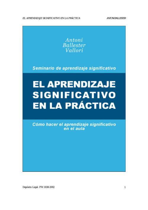 El aprendizaje significativo en la practica