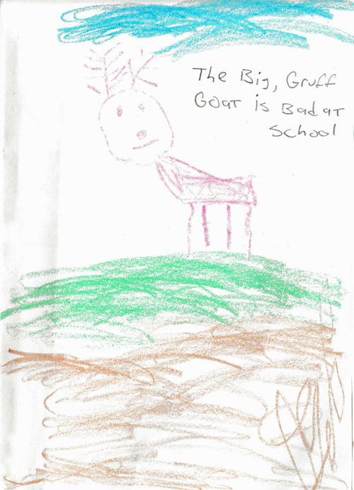 The Big Gruff Goat Is Bad At School