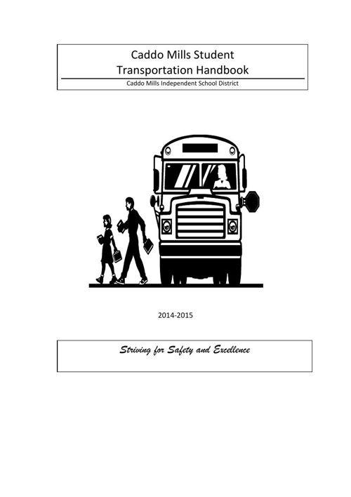 Student Transportation Handbook 2014-2015
