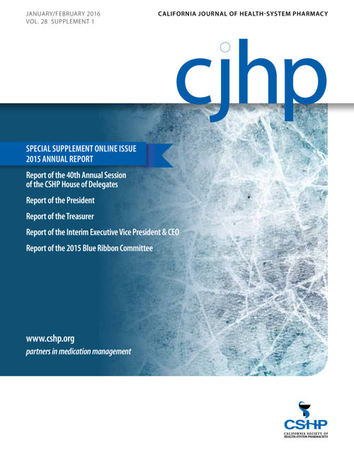 CJHP 15 Annual Report