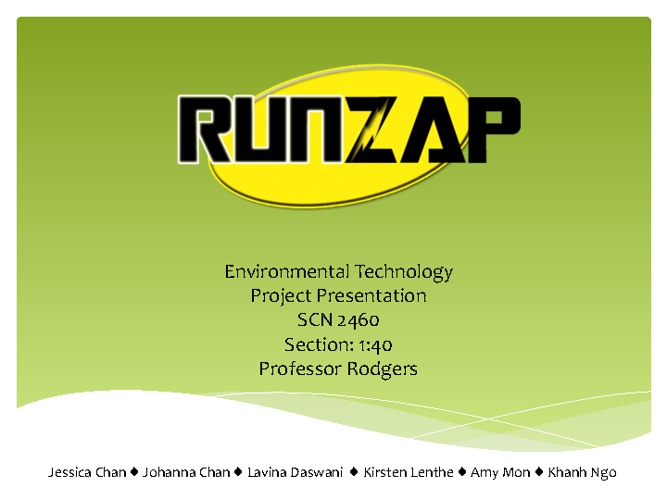 Science B- RunZap