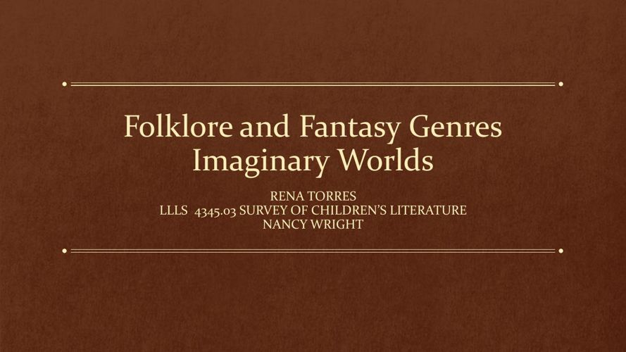 Folklore and Fantasy Genres