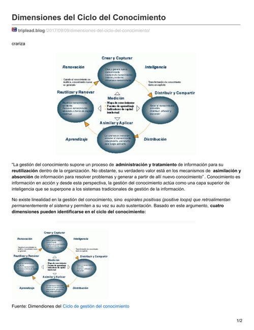 1 Dimensiones del Ciclo delConocimiento