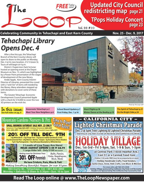 The Loop Newspaper - Vol 33 No 10 - Nov 25 to Dec 09, 2017