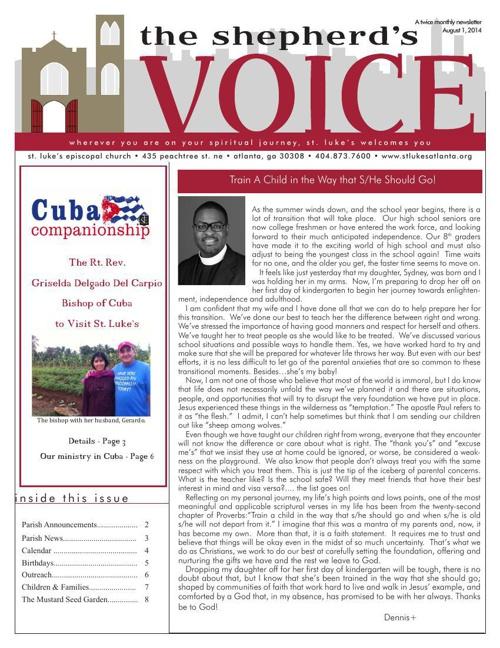 Shepherd's Voice August 1 2014