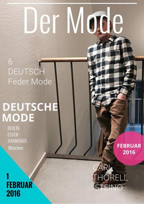Modekatalog i tysk